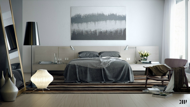 Appealing-Grey-brown-white-bedroom-luxury-modern Perfect contemporary gray rooms that we love Perfect contemporary gray rooms that we love Appealing Grey brown white bedroom luxury modern