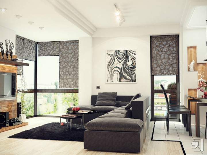 Black-white-gray-living-room-sofa-pillow-luxury-modern Perfect contemporary gray rooms that we love Perfect contemporary gray rooms that we love Black white gray living room sofa pillow luxury modern