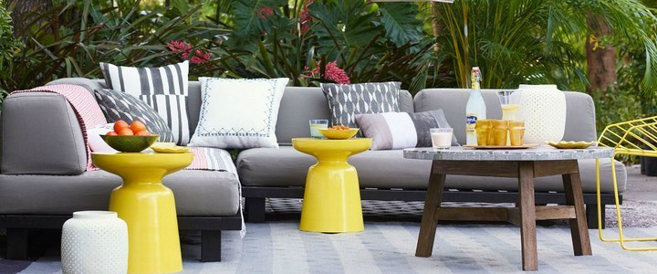 5 Tips on How to Decorate your Garden for this Summer 5 Tips on How to Decorate your Garden for this Summer tilary outdoor sofa west elm gray soft colors garden summer decor ideass