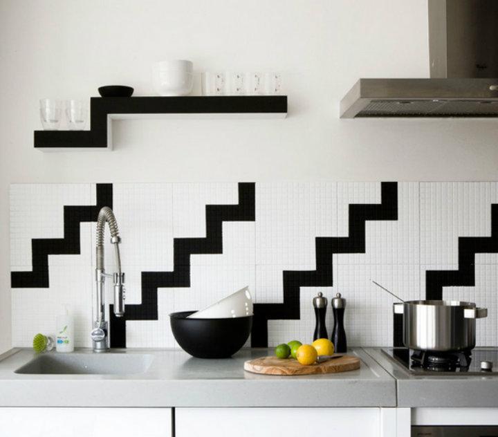10 kitchen decor ideas home decor ideas for Black white kitchen decor