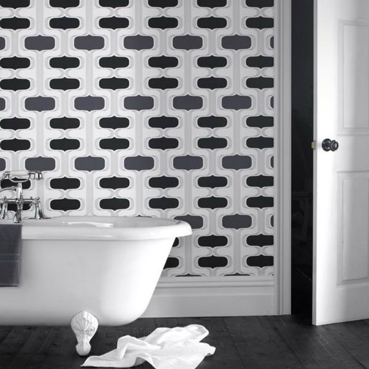 bold wallpaper Ten easy ways to make your bathroom a glamourous room Ten easy ways to make your bathroom a glamourous room bold wallpaper
