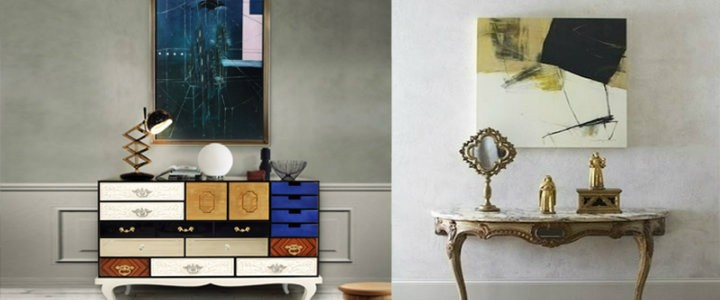 Modern Art in Traditional Rooms