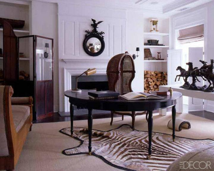 Luxury office home decor ideas by elle decor home decor for Elegant home office decorating ideas