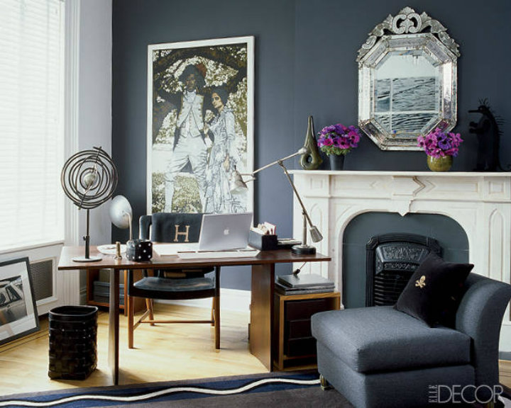 Luxury office home decor ideas by elle decor home decor for Wallpaper home office ideas