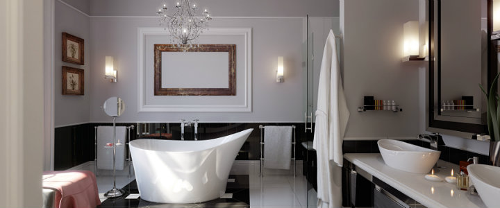 Ten easy ways to make your bathroom a glamourous room