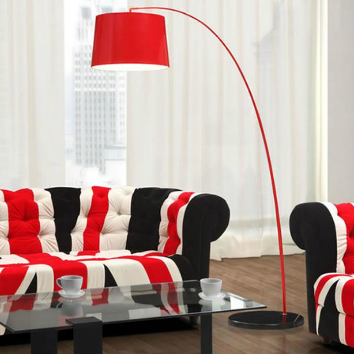 Colorful-Arc-Lamp-Design-Ideas7 Arc Lamp Design Ideas For Your Living Room Arc Lamp Design Ideas For Your Living Room Colorful Arc Lamp Design Ideas7
