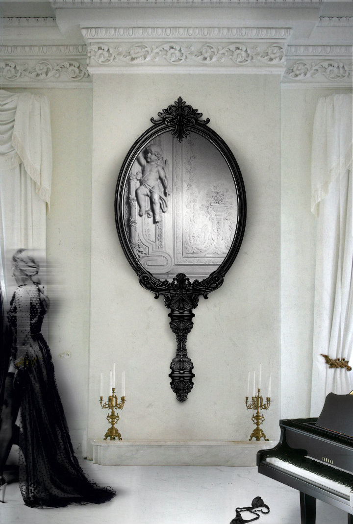 How to decorate your living room with black mirrors black mirrors How to decorate your living room with black mirrors antoinette marie1
