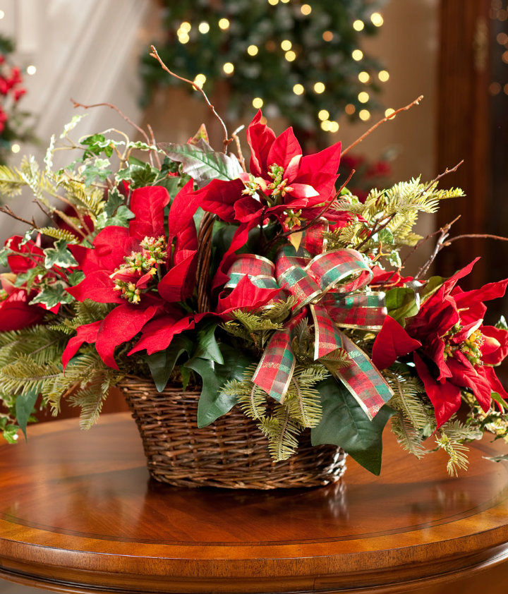 Christmas decorating with poinsettias diepedia
