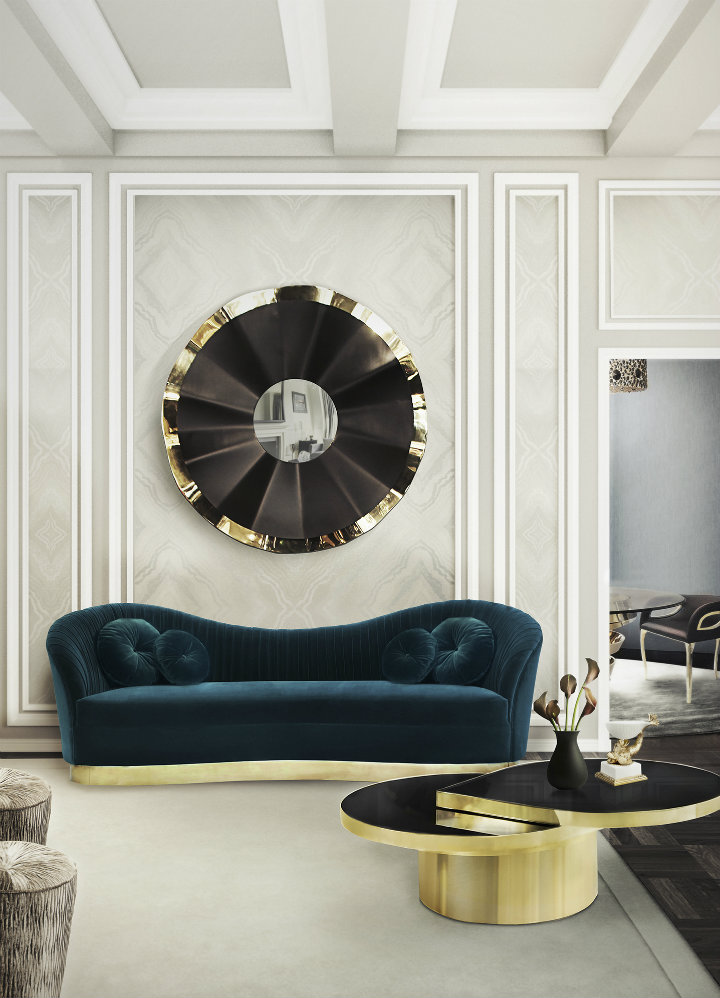 How to decorate your living room with black mirrors | Home Decor Ideas