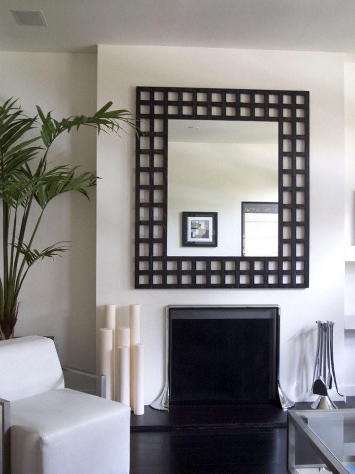 mirror wall in living room how to decorate your living room with black mirrors home 23434