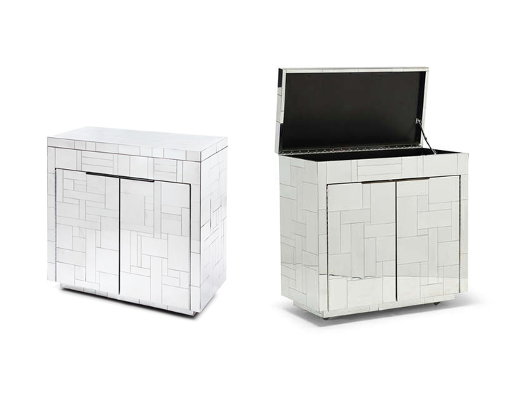 Trendy Decor Ideas With Mirrored Nightstands Home