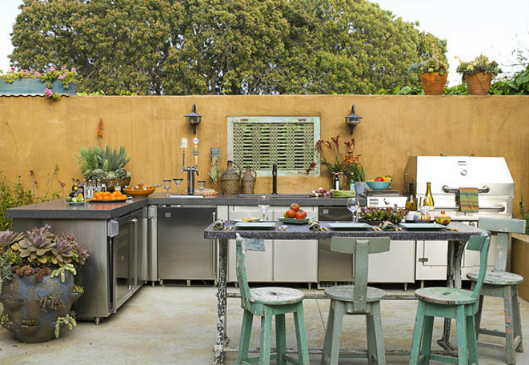 Amazing Outdoor Kitchens Amazing Outdoor Kitchens Amazing Outdoor Kitchens Outdoor Kitchen Salvaged Materials Sandy Koepke California