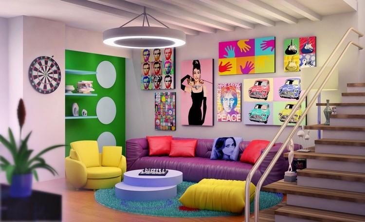POP ART POP ART TO DECORATE YOUR HOME Pop Art Retro Interior Design
