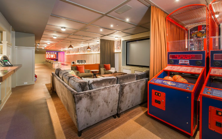 Lady Gaga´s Malibu Home Lady Gaga´s Malibu Home Lady Gaga´s Malibu Home lets jump right to the underground batcave it contains arcade games and the owners collection of vintage toys