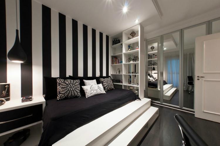 Black & White Bedroom Ideas Bedroom Monochrome Inspiring Bedroom modern black and white bedroom ideas