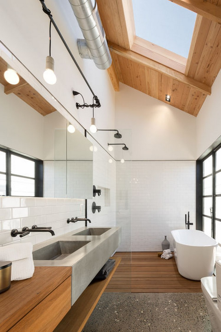 5 Incredible bathrooms designed with wood 5 Incredible bathrooms designed with wood 5 Incredible bathrooms designed with wood phoenix industrial bungalow master bathroom