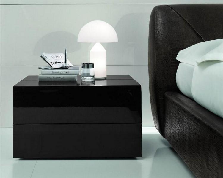 Black Modern Bedside Table: Bedroom Decor Ideas: 50 Inspirational Bedside Tables