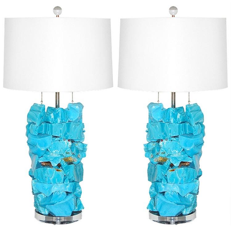 bedroom decor ideas Bedroom Decor Ideas: 50 Inspirational Table Lamps blue2