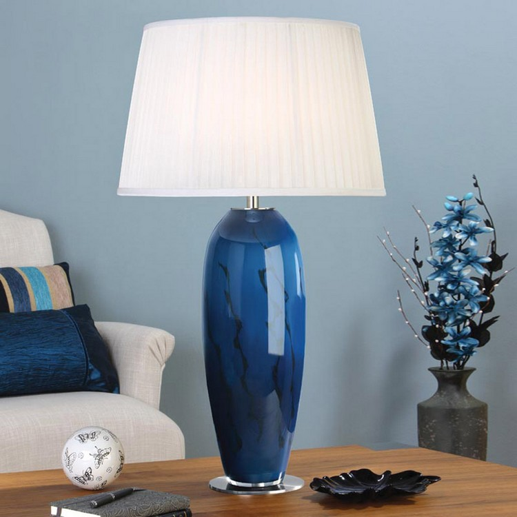 bedroom decor ideas Bedroom Decor Ideas: 50 Inspirational Table Lamps blue5