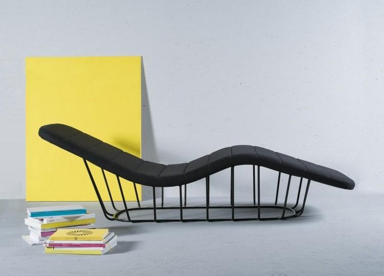 Bedroom Decor Ideas: 50 Inspirational Chaise Longs Bedroom Decor Ideas Bedroom Decor Ideas: 50 Inspirational Chaise Longue metalic2