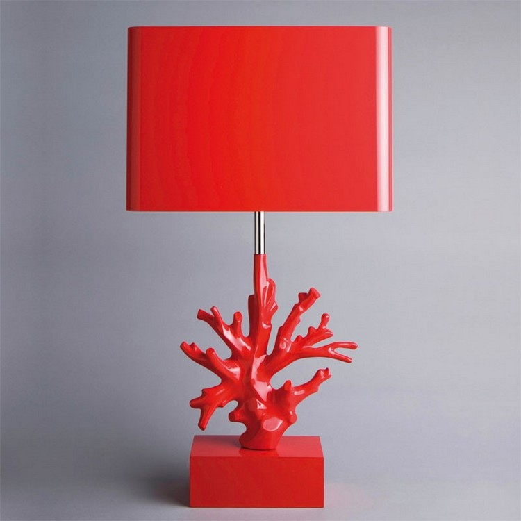 bedroom decor ideas Bedroom Decor Ideas: 50 Inspirational Table Lamps red2