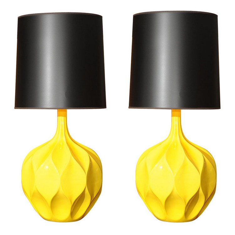 bedroom decor ideas Bedroom Decor Ideas: 50 Inspirational Table Lamps yellow1
