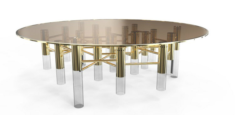 Living room decor ideas 50 coffee tables ideas in brass - Living room center table decoration ideas ...