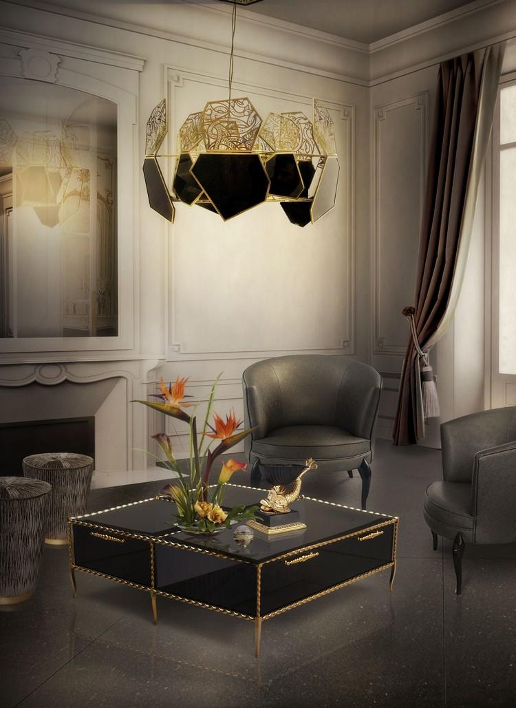 Receiving Room Interior Design: Living Room Decor Ideas: 50 Coffee Tables Ideas In Brass