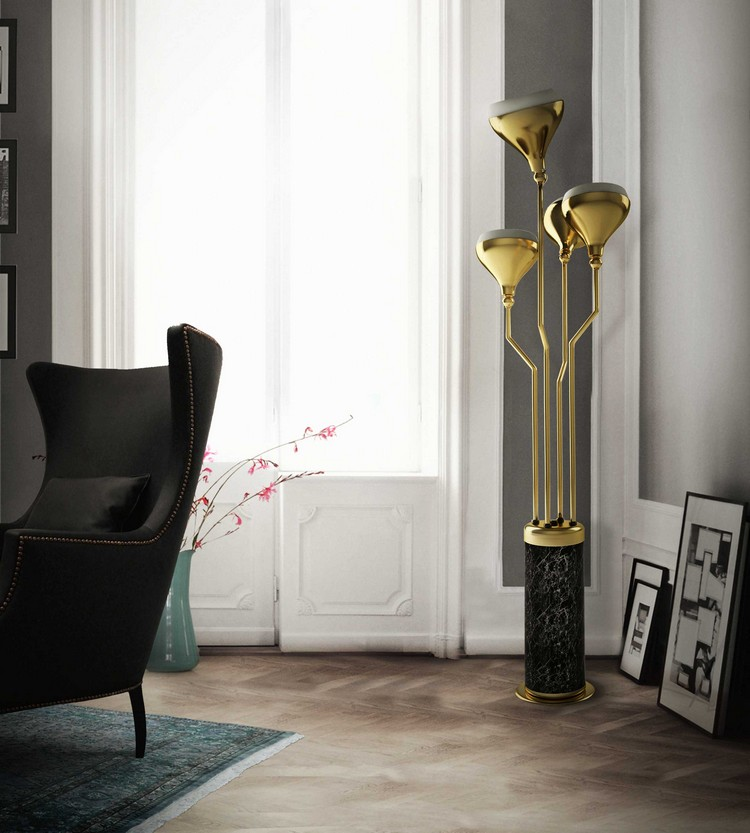 Living room decor ideas top 50 floor lamps home decor ideas page 9 for How to fill empty corner in living room
