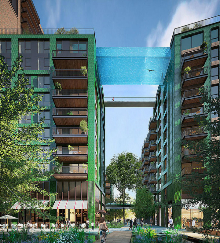 HAL ARCHITECTS HAL ARCHITECTS SET A GLASS-BOTTOMED SKY POOL IN LONDON Sky Pool 1
