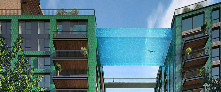 HAL ARCHITECTS SET A GLASS-BOTTOMED SKY POOL IN LONDON