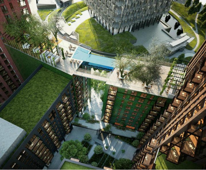 HAL ARCHITECTS SET A GLASS-BOTTOMED SKY POOL IN LONDON  HAL ARCHITECTS HAL ARCHITECTS SET A GLASS-BOTTOMED SKY POOL IN LONDON hal architect set a glass bottomed sky pool in london