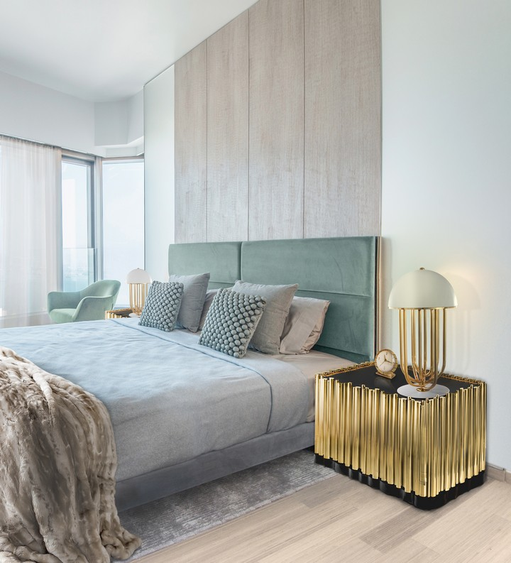 Top Bedroom Wall Texture Ideas wall textures Top Bedroom Wall Textures Ideas Made from wood finished covered by a tubular structure in gold plated brass