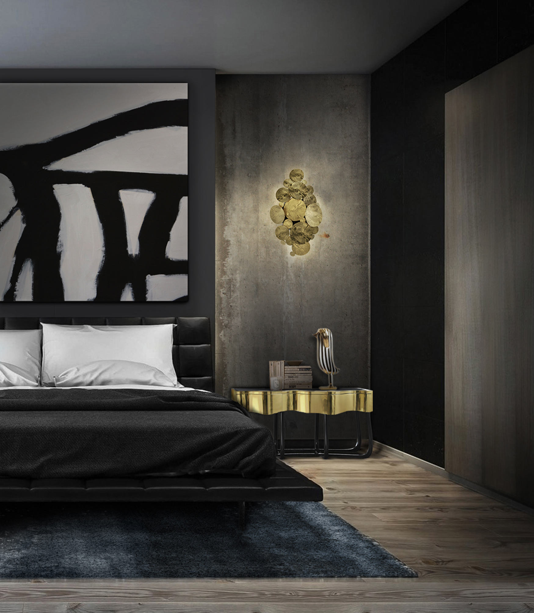 Newton Wall Lamp by Boca do Lobo bedroom design How to decorate your bedroom design in 10 steps sinuous 4