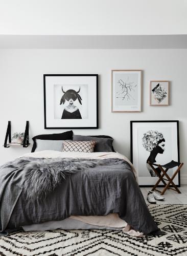 Modern bedroom at scandinavian house scandinavian design AMAZING SCANDINAVIAN DESIGN BEDROOMS 17