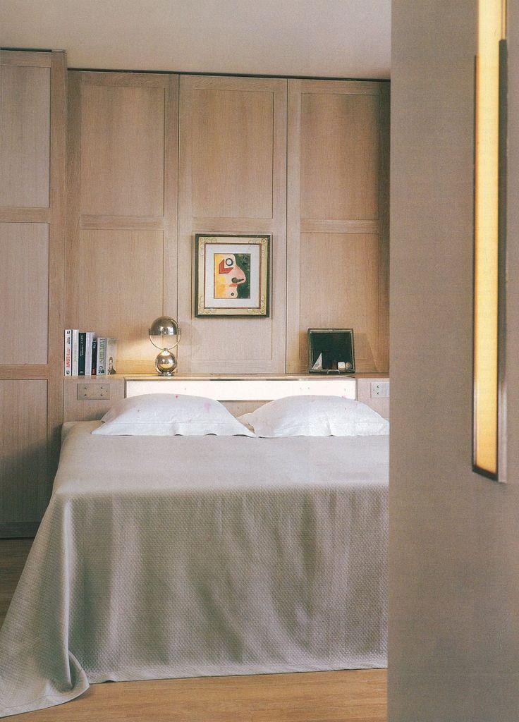 Neutral bedroom interior at the Wasserturm Hotel