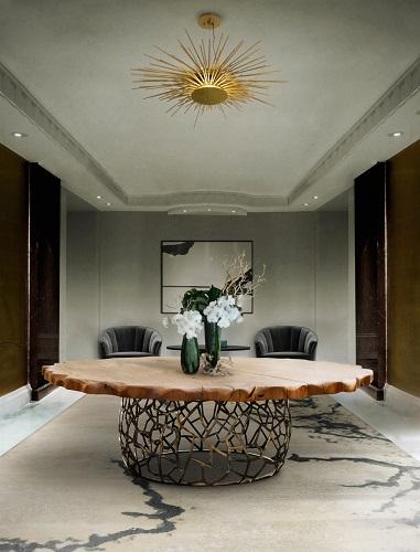 Apis Dining Table by Brabbu dining tables 17 Round Dining Tables for Modern Interiors Koi Dining Table by Brabbu