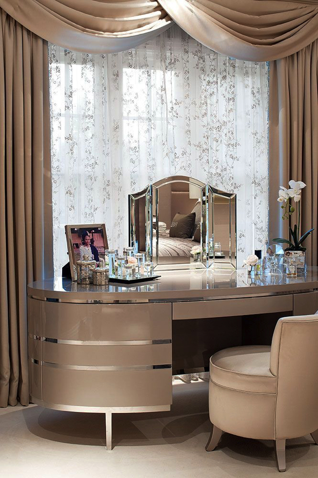 Rounded-dressing-table dressing tables 21 DRESSING TABLES FOR THE CONTEMPORARY BEDROOM Rounded dressing table