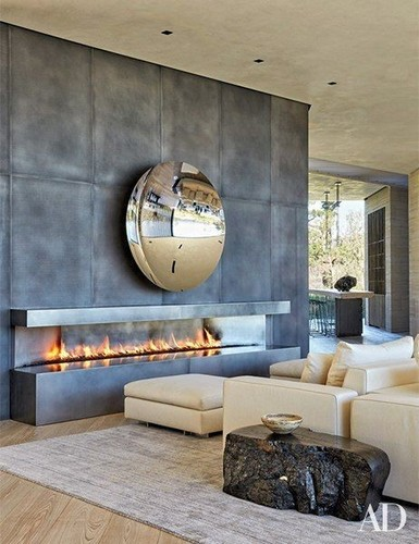 Rounded Mirror for Contemporary Living Room  luxury TOP 20 MIRRORS FOR LUXURY INTERIORS TOP 20 mirrors 3