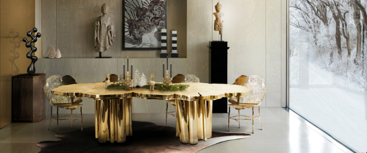 Christmas dining room design christmas decoration GUIDE FOR A MODERN AND CHIC CHRISTMAS DECORATION feature8