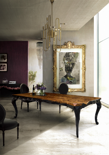 Royal dining table by Boca do Lobo dining room design DECOR IDEAS TO GET AN INDUSTRIAL DINING ROOM DESIGN royal