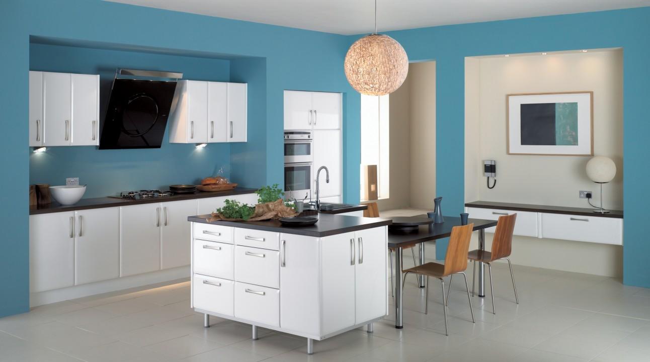 Modern Blue Kitchen modern kitchen Beautiful Color Trends for Your Modern Kitchen Modern Blue Kitchen e1456141475471