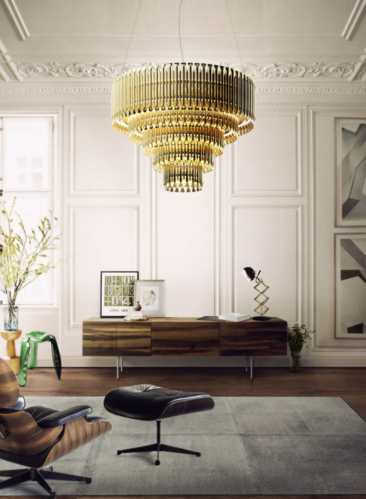 Ideal for a classic living room with a modern touch, Matheny stilnovo suspension lamp by DelightFULL came to reinvent classic designs with a high aesthetic feeling.