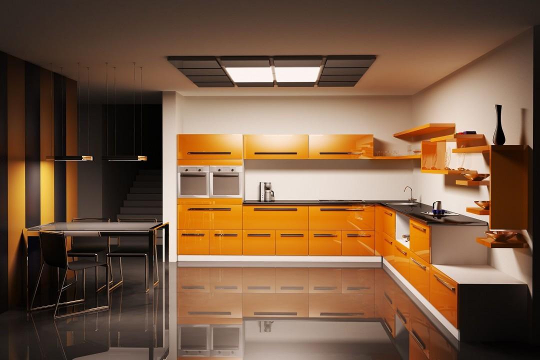 Modern Orange Kitchen modern kitchen Beautiful Color Trends for Your Modern Kitchen Modern Orange Kitchen e1456144494260