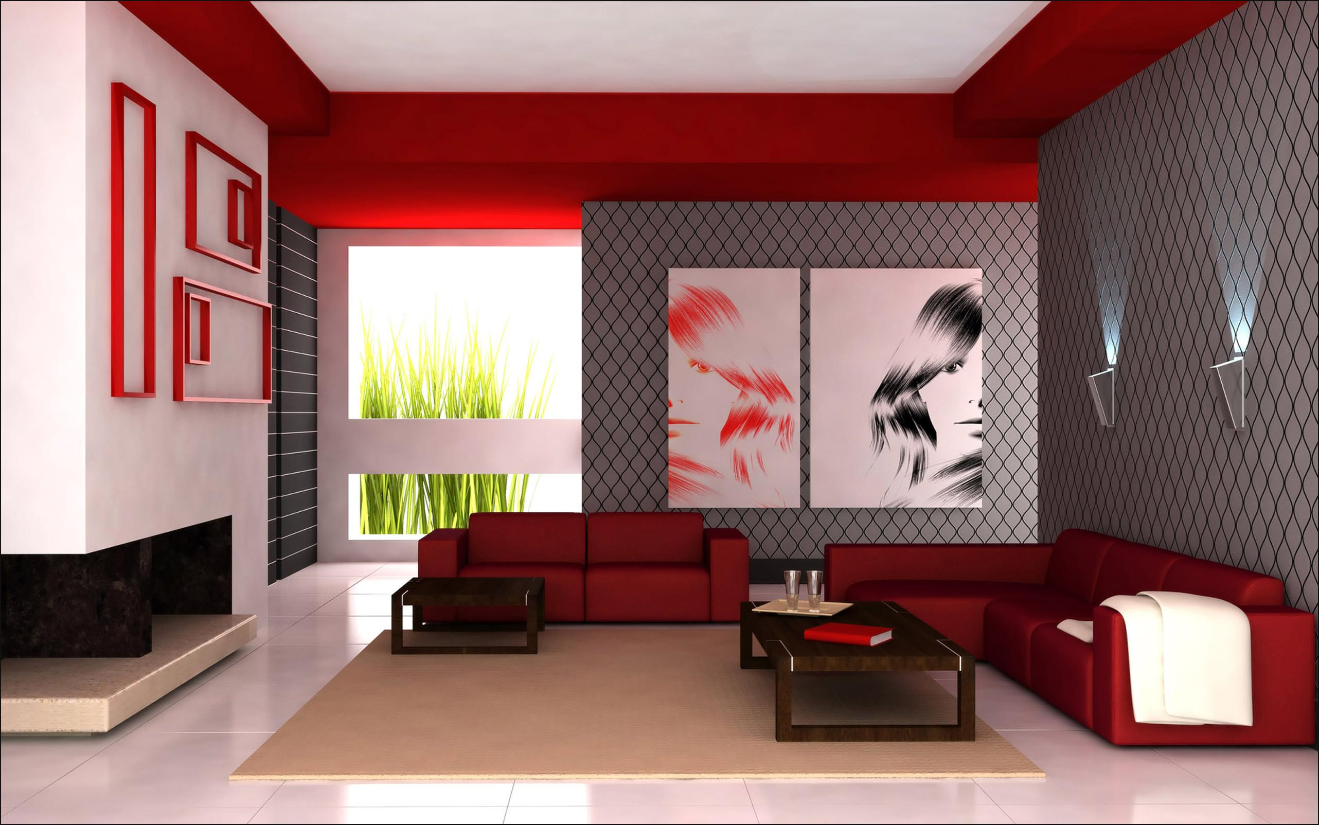 Classic Red Contemporary Design