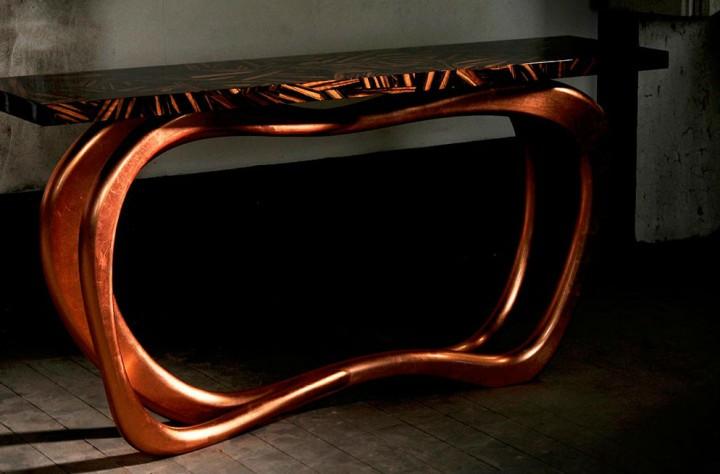 Infinity Console by Boca do Lobo Copper Most Beautiful Furniture Made in Copper Infinity Console by Boca do Lobo1 e1456834123220