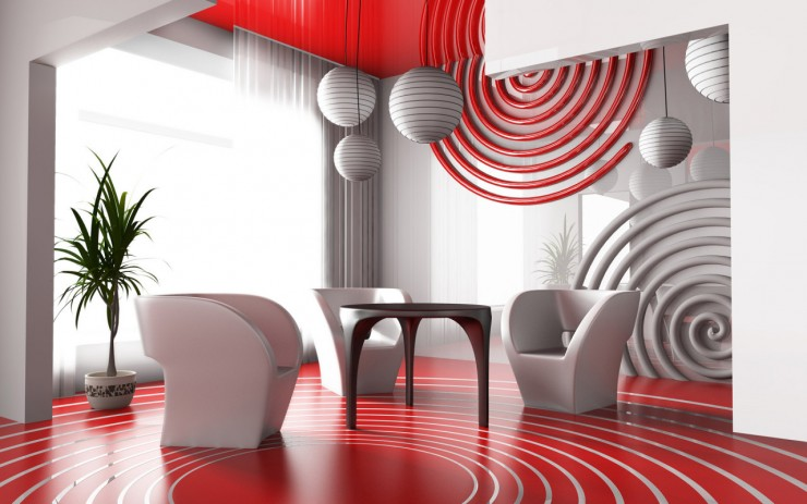 Modern Living Room Wall Decor Design Red Accents The Best Ideas