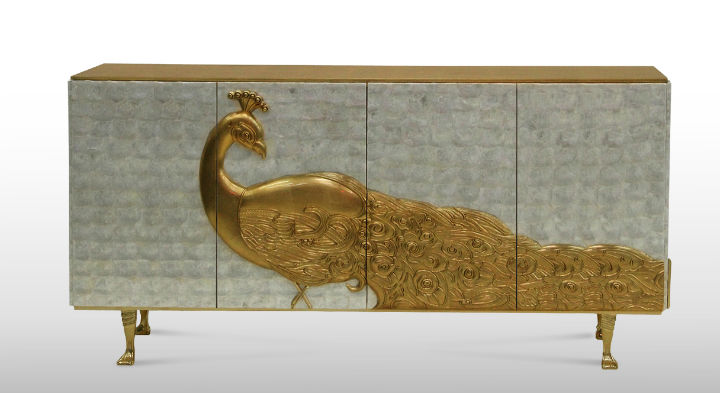 camilia-cabinet-by koket Gold Leaf Most beautiful Home Accessories made with Gold Leaf camilia cabinet by koket