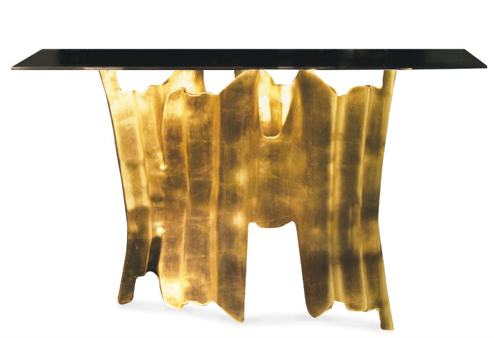 obssedia-console by Koket Gold Leaf Most beautiful Home Accessories made with Gold Leaf obssedia console by Koket