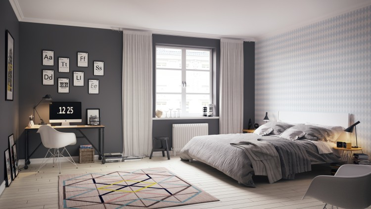 contemporary bedroom 1 Scandinavian Bedroom Beautiful Scandinavian Bedroom Ideas contemporary bedroom 1 e1461756012548